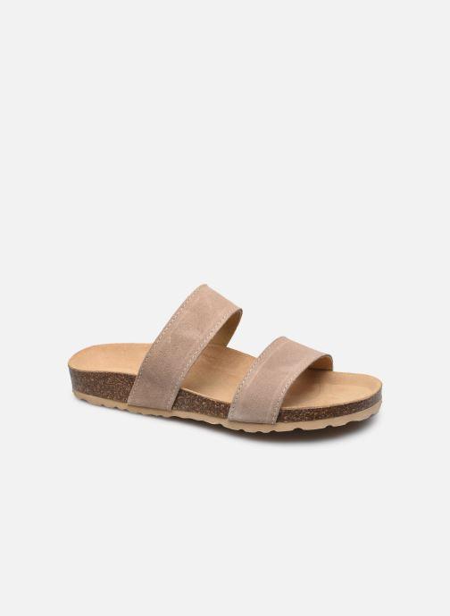Wedges Bianco BIABETRICIA Twin Strap Sandal Beige detail