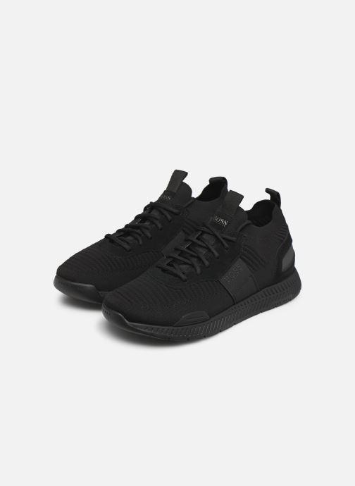Sneaker BOSS Titanium_Runn_knst1 schwarz ansicht von unten / tasche getragen
