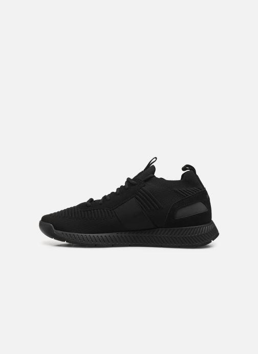 Sneaker BOSS Titanium_Runn_knst1 schwarz ansicht von vorne
