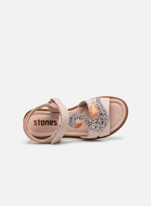 Sandalen Stones and Bones Swan 4339 beige ansicht von links