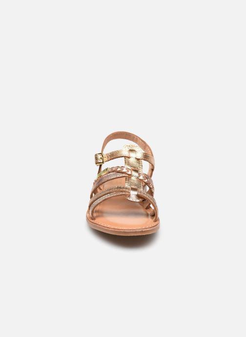 Sandales et nu-pieds Les Tropéziennes par M Belarbi Monga Or et bronze vue portées chaussures