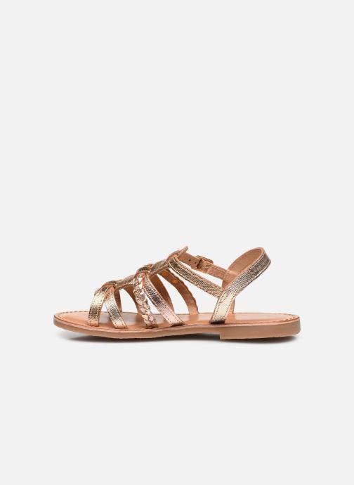Sandales et nu-pieds Les Tropéziennes par M Belarbi Monga Or et bronze vue face