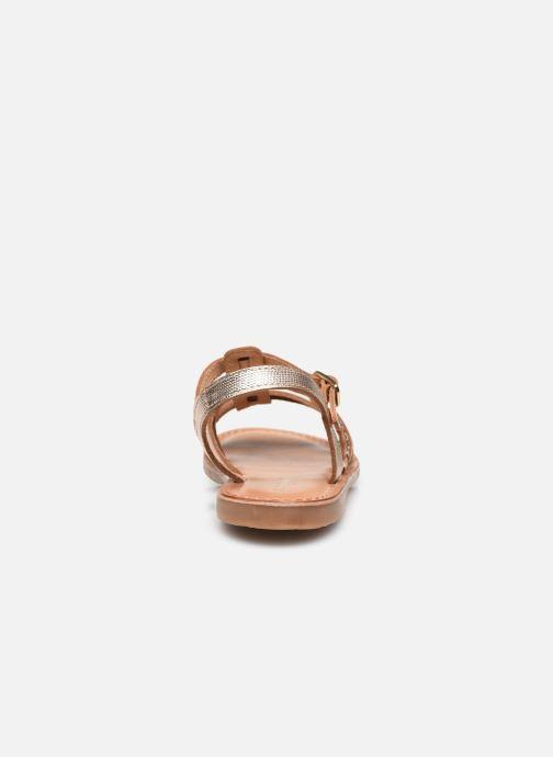 Sandales et nu-pieds Les Tropéziennes par M Belarbi Monga Or et bronze vue droite