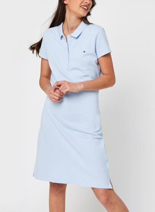 Ropa Tommy Hilfiger Slim Short Polo Dress Azul vista de detalle / par