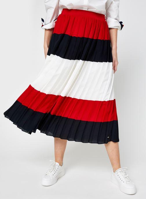 Kleding Accessoires Crepe Pleated Midi Skirt