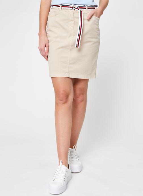 Kleding Tommy Hilfiger Co Tencel Rome Short Skirt Beige detail