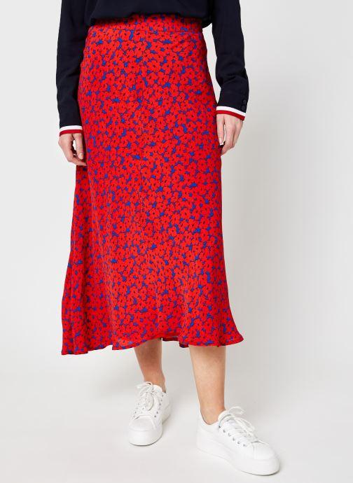 Vêtements Tommy Hilfiger Viscose Moss Crepe Midi Skirt Rouge vue détail/paire