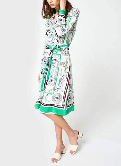 Kleding Accessoires Viscose Midi Shirt Dress Ls