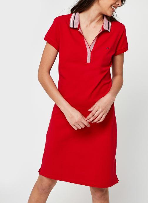Ropa Tommy Hilfiger Tipping Slim Polo Short Dress Ss Rojo vista de detalle / par