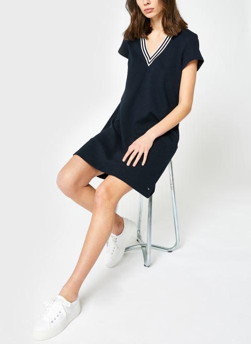 Vêtements Tommy Hilfiger Textured Shift Short Dress Ss Bleu vue bas / vue portée sac