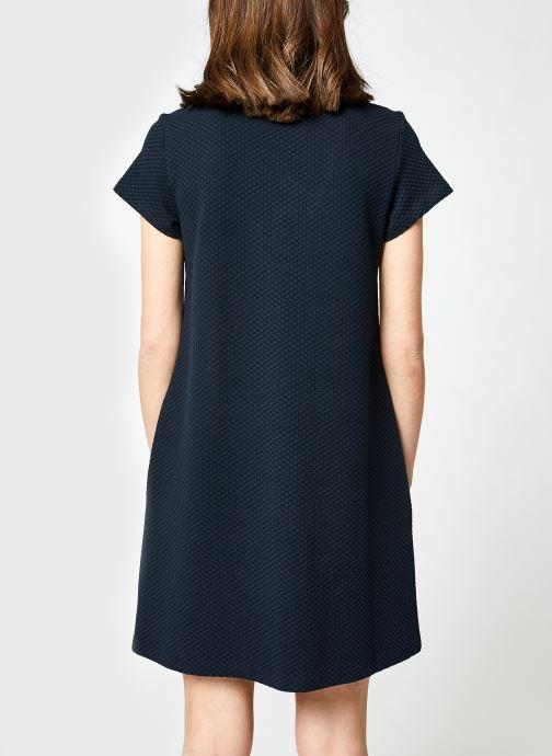 Vêtements Tommy Hilfiger Textured Shift Short Dress Ss Bleu vue portées chaussures