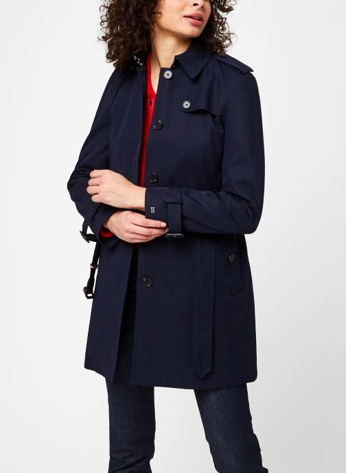 Kleding Tommy Hilfiger Heritage Single Breasted Trench Blauw detail