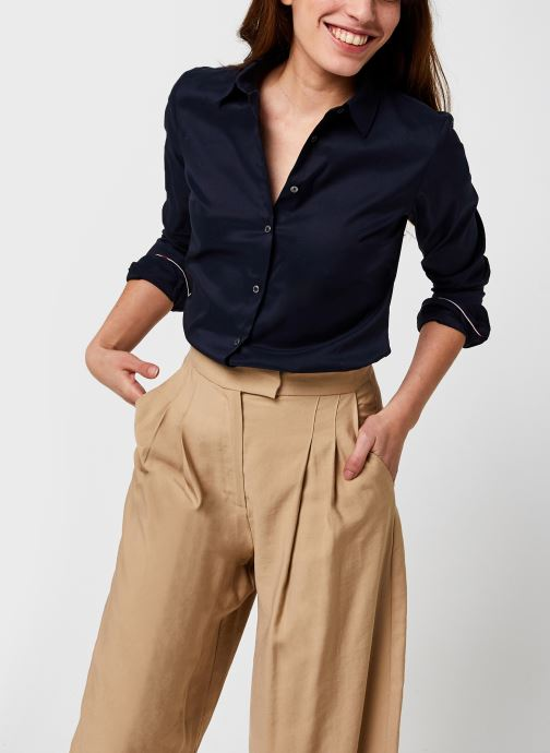 Vêtements Tommy Hilfiger Heritage Slim Fit Shirt Bleu vue détail/paire