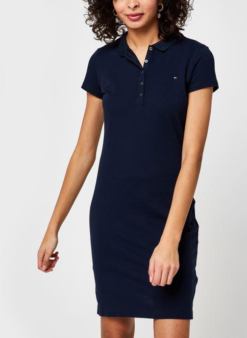 Vêtements Tommy Hilfiger Heritage Slim Polo Dress Bleu vue détail/paire