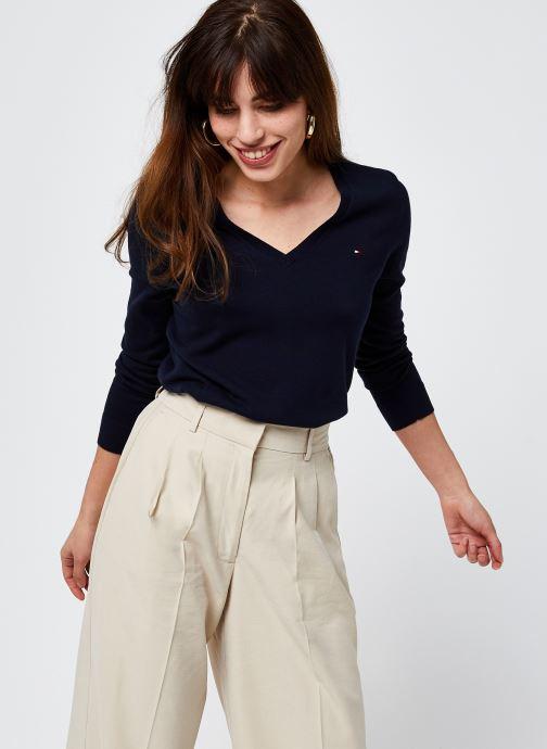 Vêtements Tommy Hilfiger Heritage V-Neck Sweater Bleu vue détail/paire