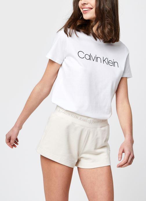 Kleding Calvin Klein Core Logo Crew Nk Tee Wit detail