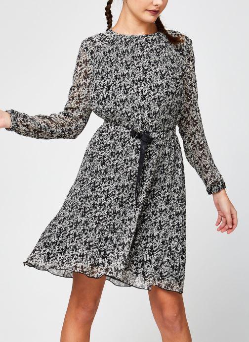 Kleding Calvin Klein Ls Plisse Dress Zwart detail