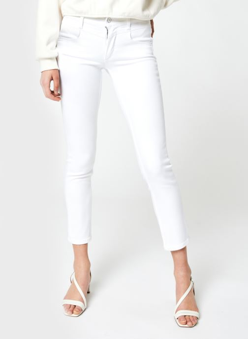 Vêtements Calvin Klein Mid Rise Slim Ankle Blanc vue détail/paire