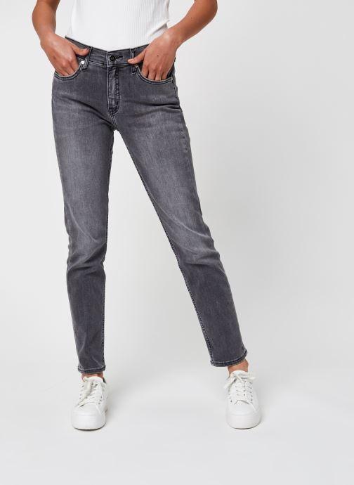 Vêtements Calvin Klein Mid Rise Slim Ankle Gris vue détail/paire
