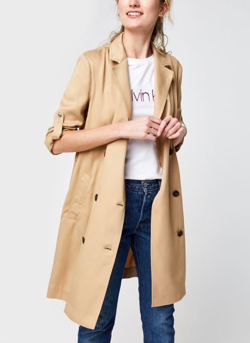 Vêtements Calvin Klein Tencel Trench Dress Beige vue détail/paire