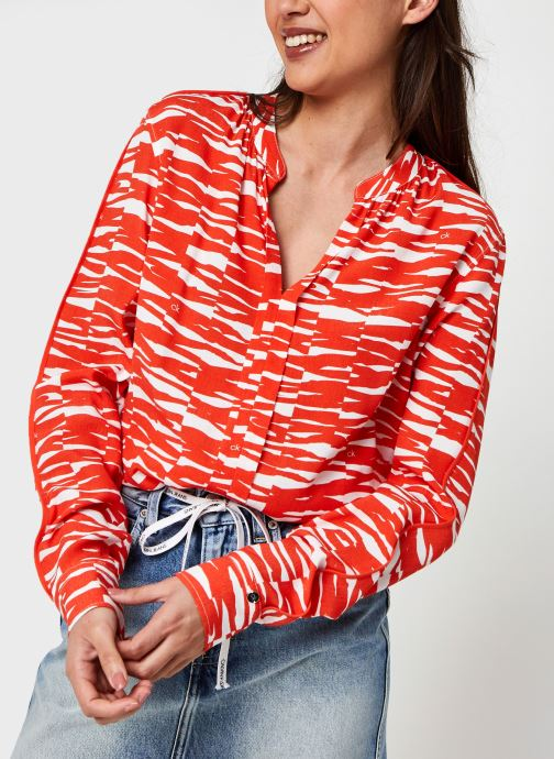 Kleding Accessoires Viscose Rayon Ls Piping Blouse