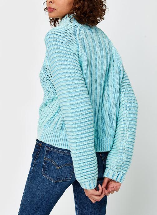 Vêtements Free People Sweetheart Sweater Bleu vue portées chaussures