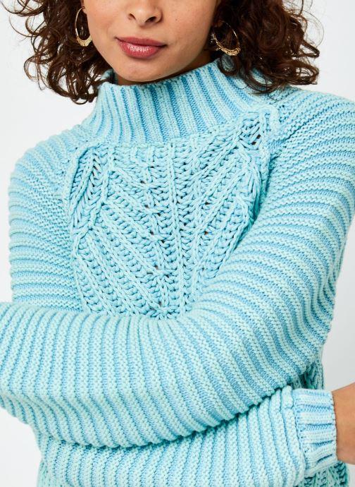 Vêtements Free People Sweetheart Sweater Bleu vue face