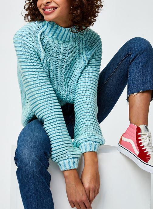 Kleding Free People Sweetheart Sweater Blauw detail