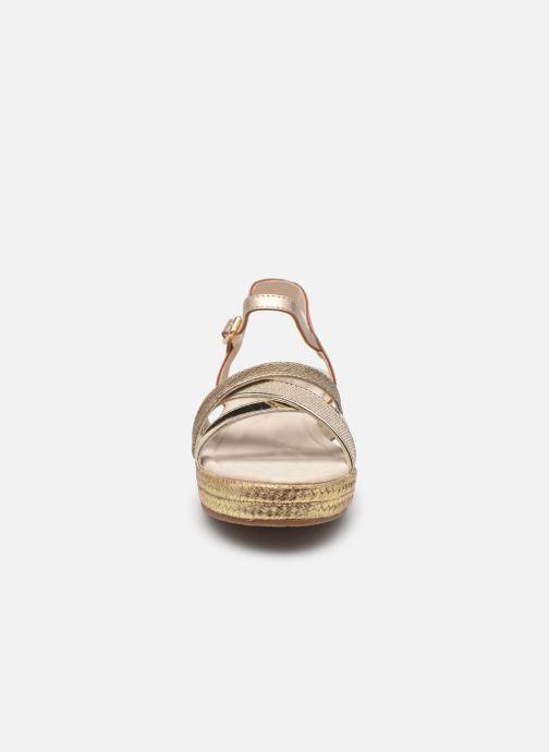 Espadrilles Conguitos LV5 555 11 Or et bronze vue portées chaussures