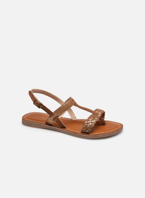 Sandales et nu-pieds L'Atelier Tropézien IL 920 Or et bronze vue détail/paire