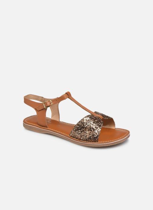 Sandales et nu-pieds L'Atelier Tropézien SH700 Marron vue détail/paire