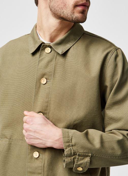 Vêtements Armor Lux Veste Pecheur Héritage Homme New Vert vue face
