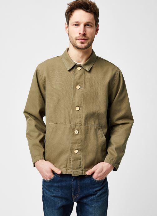 Vêtements Armor Lux Veste Pecheur Héritage Homme New Vert vue droite