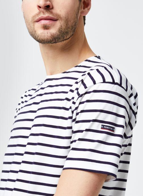 """Vêtements Armor Lux Marinière """"Théviec"""" Homme New Blanc vue face"""