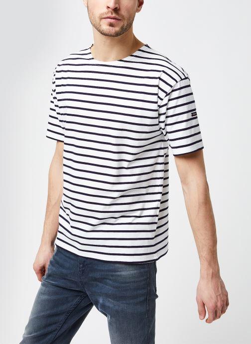 """Vêtements Armor Lux Marinière """"Théviec"""" Homme New Blanc vue droite"""