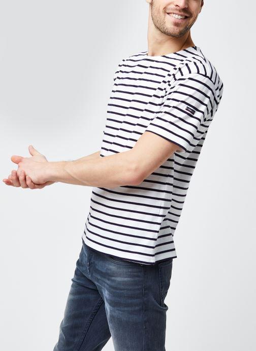 """Vêtements Armor Lux Marinière """"Théviec"""" Homme New Blanc vue détail/paire"""