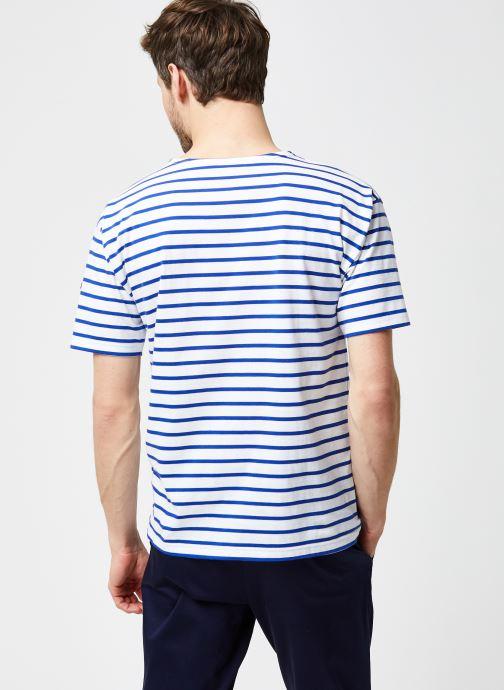 """Vêtements Armor Lux Marinière """"Théviec"""" Homme New Bleu vue portées chaussures"""