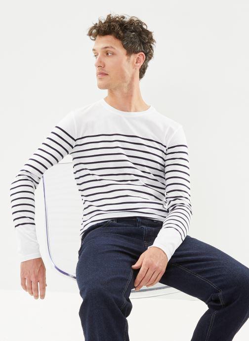 """Vêtements Armor Lux Marinière """"Port-Louis"""" Homme New Blanc vue détail/paire"""
