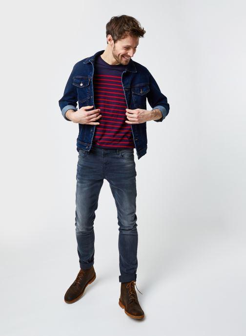 """Vêtements Armor Lux Marinière """"Port-Louis"""" Homme New Bleu vue bas / vue portée sac"""