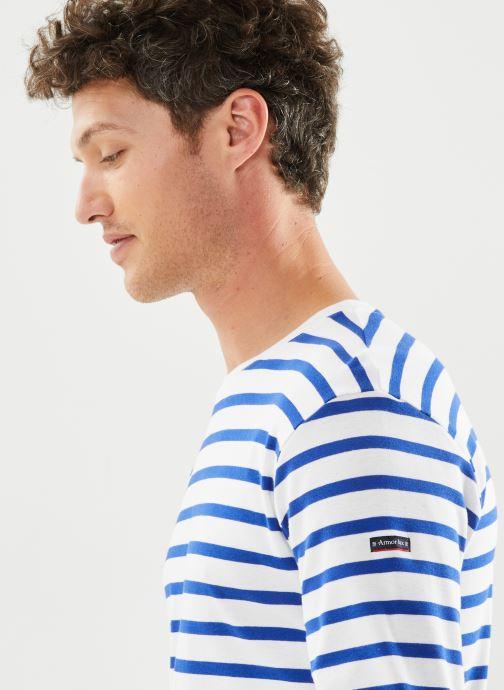 """Vêtements Armor Lux Marinière """"Crozon"""" Homme New Blanc vue face"""