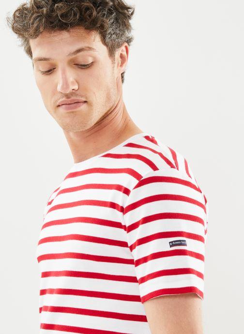 """Vêtements Armor Lux Marinière """"Morgat"""" Homme New Blanc vue face"""