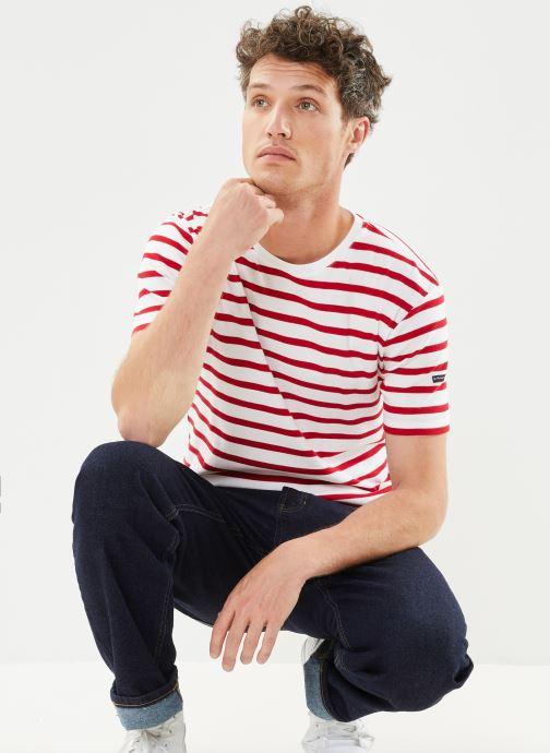 """Vêtements Armor Lux Marinière """"Morgat"""" Homme New Blanc vue détail/paire"""