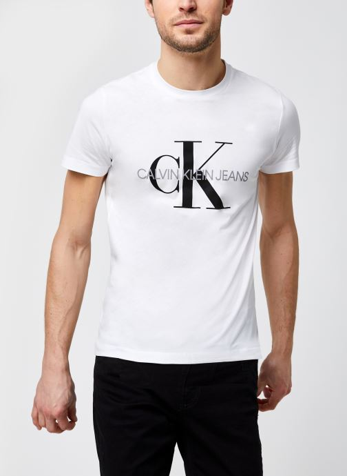 Kleding Calvin Klein Jeans Iconic Monogram Ss Slim Tee Wit detail