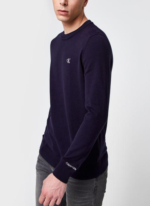 Kleding Accessoires Monogram Chest Logo Cn Sweater