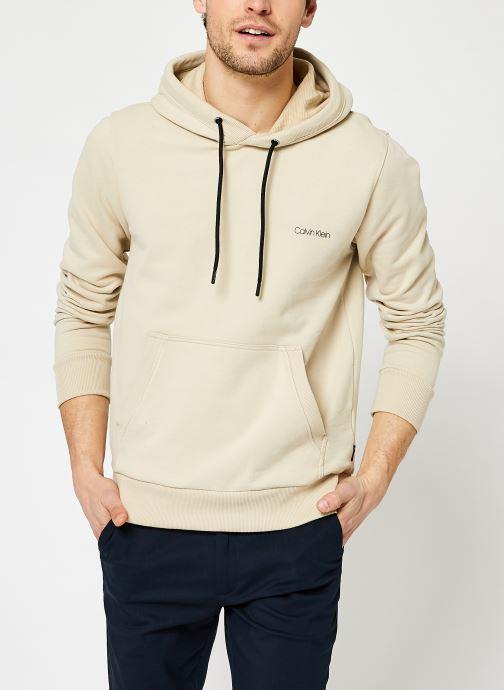 Kleding Calvin Klein Small Chest Logo Hoodie Beige detail