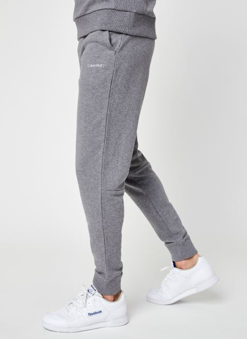 Vêtements Calvin Klein Small Logo Sweatpant Gris vue détail/paire