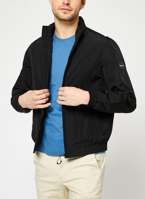 Kleding Calvin Klein Crinkle Nylon Easy Blouson Zwart detail