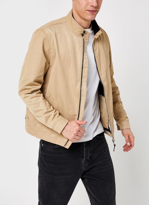 Vêtements Calvin Klein Iconic Harrington Jacket Beige vue détail/paire