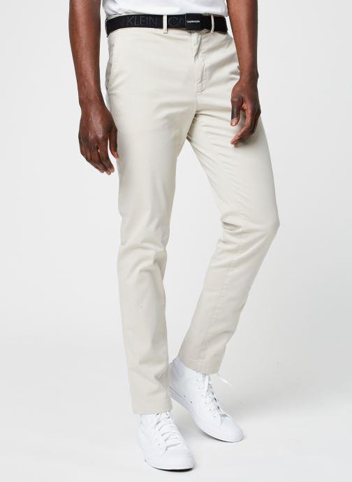 Vêtements Calvin Klein Slim Fit Garment Dye Chino Belt Beige vue détail/paire