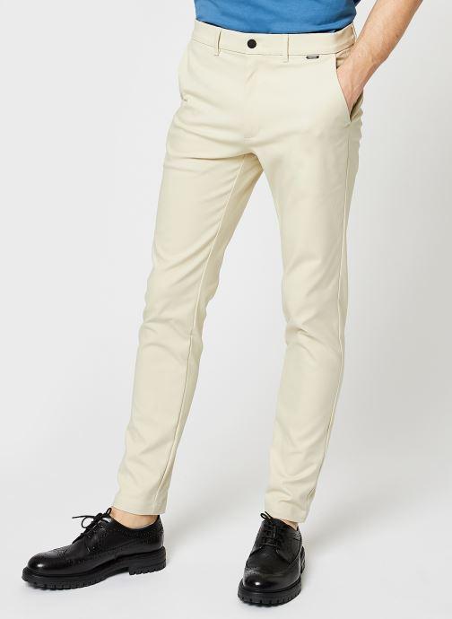 Vêtements Calvin Klein Tech Stretch Slim Fit Chino Beige vue détail/paire